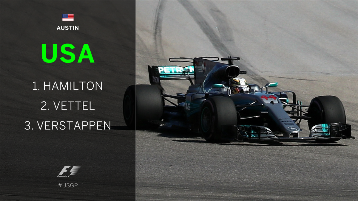 BREAKING: @LewisHamilton wins the #USGP as title rival Sebastian Vette...