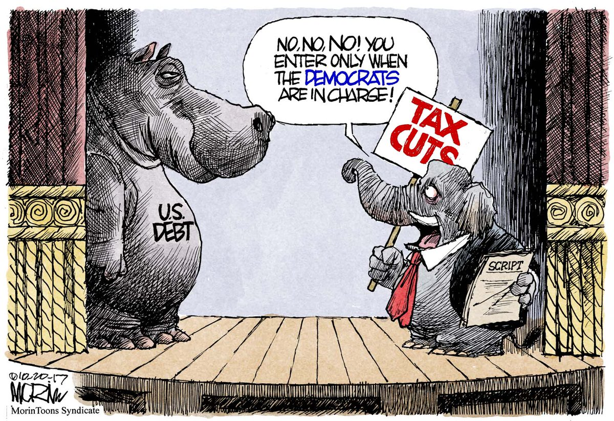 GOP is as predictable as they are hypocritical #morintoon #GOP #Budget #NationalDebt #BudgetDeficits #SocialPrograms<br>http://pic.twitter.com/JxvJgYrLX3