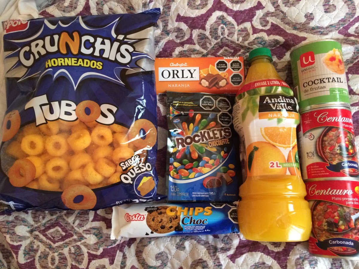 Small bunch of items from Unimarc supermarket in Coyhaique, $11000 pesos = $17usd, for the ferry tomorrow night. #food #supermarket #Chile <br>http://pic.twitter.com/oP5b52iFFr