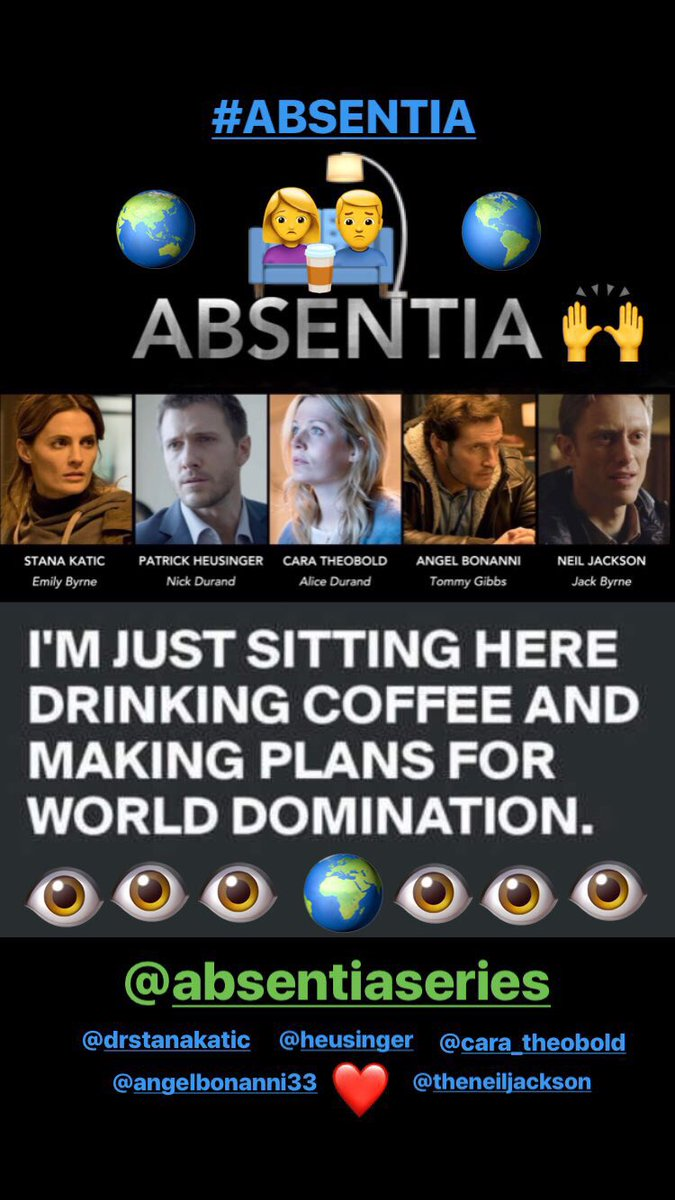 Saturday IG Live Story! #Absentia <br>http://pic.twitter.com/yAcMrM682V