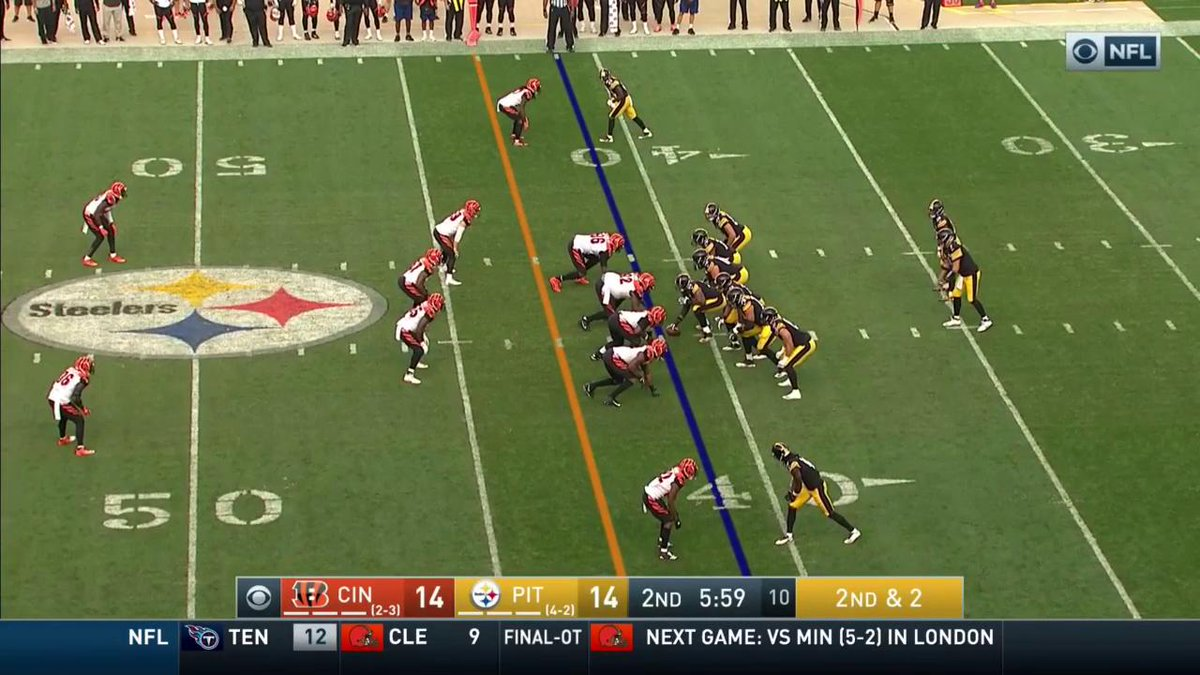 Dre Kirkpatrick is going to remember this stiff arm from Le'Veon Bell...