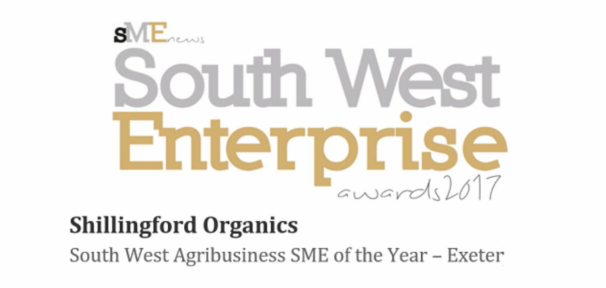 We are over the moon to have been awarded South West Agribusiness SME of the Year – Exeter 2017 thank you @SMENewsUK #awards #greatyear4us<br>http://pic.twitter.com/MkFME856P8