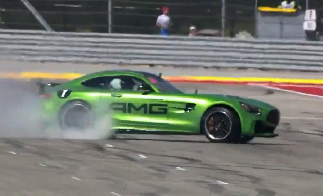 #BeastoftheGreenHell! #LewisHamilton takes #UsainBolt for a #spin!  #USGP #F1 #COTA!  #MercedesAMG #GTR #AMG #SuperCar #RussellsTransport<br>http://pic.twitter.com/MotPMgRRM1