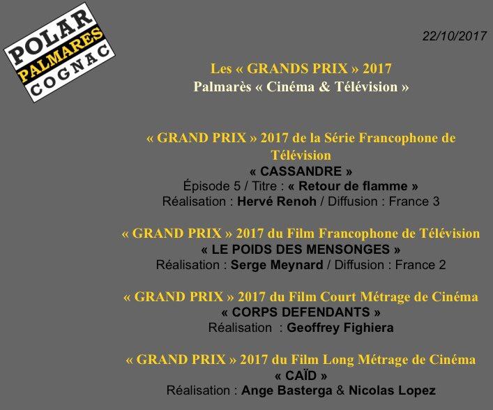 #Cassandre remporte le Grand Prix du @FestivalPolar Cognac 2017  Un immense BRAVO à toute l\