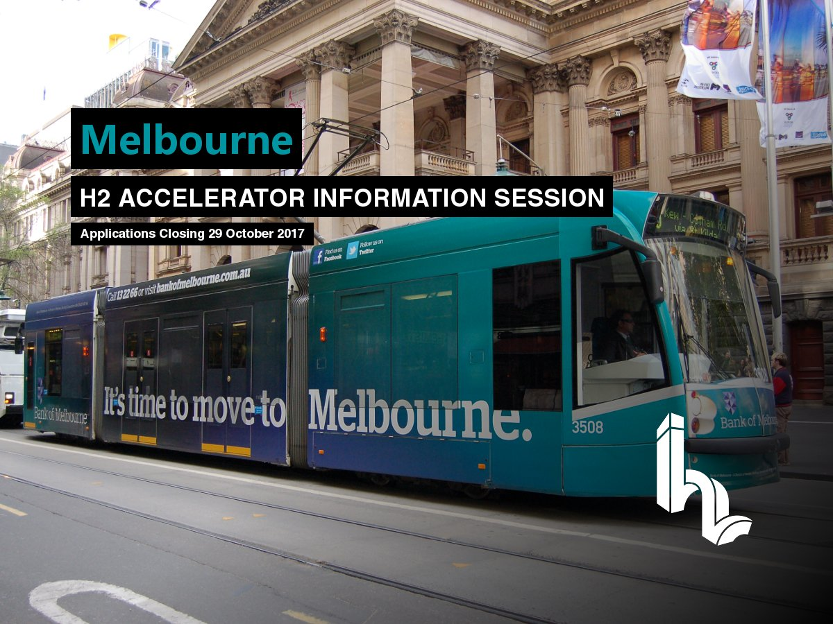 #Melbourne #fintech, #data or #AI #startup #founders - come to the @H2_Ventures #accelerator info session tonight  https://www. meetup.com/H2-Ventures/ev ents/243760891/ &nbsp; … <br>http://pic.twitter.com/8kU2UPwbXs