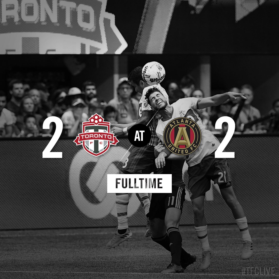 Full Time in Atlanta and for the regular season.   #TFCLive | #ATLvTOR...