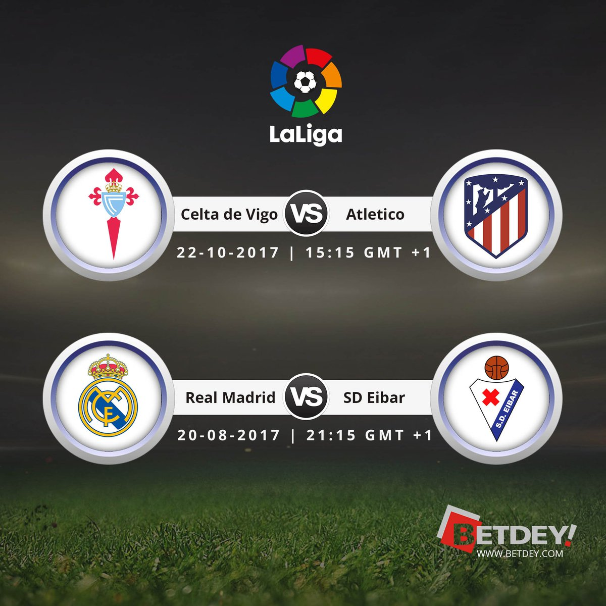 Bet here   https:// goo.gl/HsYNLE  &nbsp;    #LaLiga  15:15 GMT+1 | 22 Oct 2017 #Betdey #Realmadrid #Atletico <br>http://pic.twitter.com/lSiKFbJ03Q
