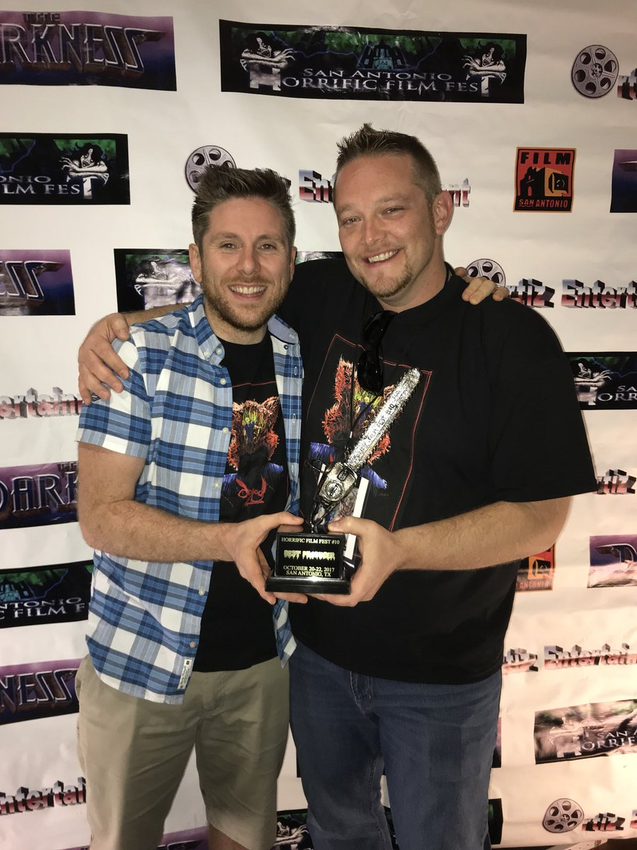 Best produced film winners @DoggedTheMovie enormous thanks to everyone @horrificfilmsat San Antonio Horrific Film Festival! #horror #Dogged<br>http://pic.twitter.com/RK0HIr3cuP