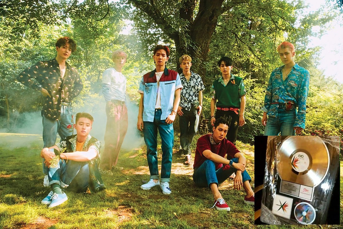 Platinum plaque for #EXO's 'The War' arrives to celebrate over 1 milli...