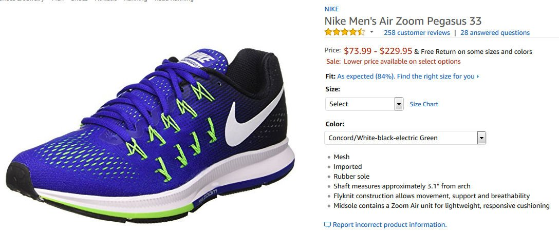 official photos 10e67 b8624  Amazon   Nike  Men s Air Zoom Pegasus 33, CONCORD WHI... by NIKE for   115.00 http   amzn.to 2xYfdXn via  amazon  Shoes  runningpic.twitter.com  H4Y7ASQLFI
