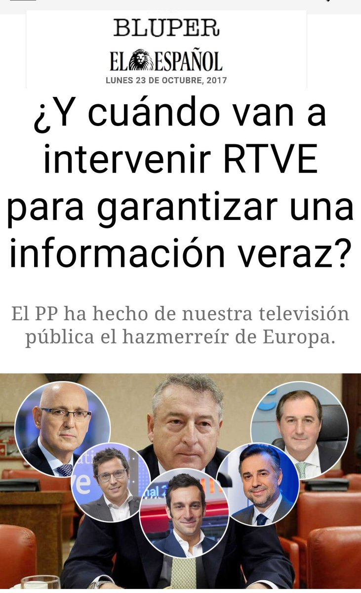 #FelizLunes  'RTVE ha sido prostituida h...
