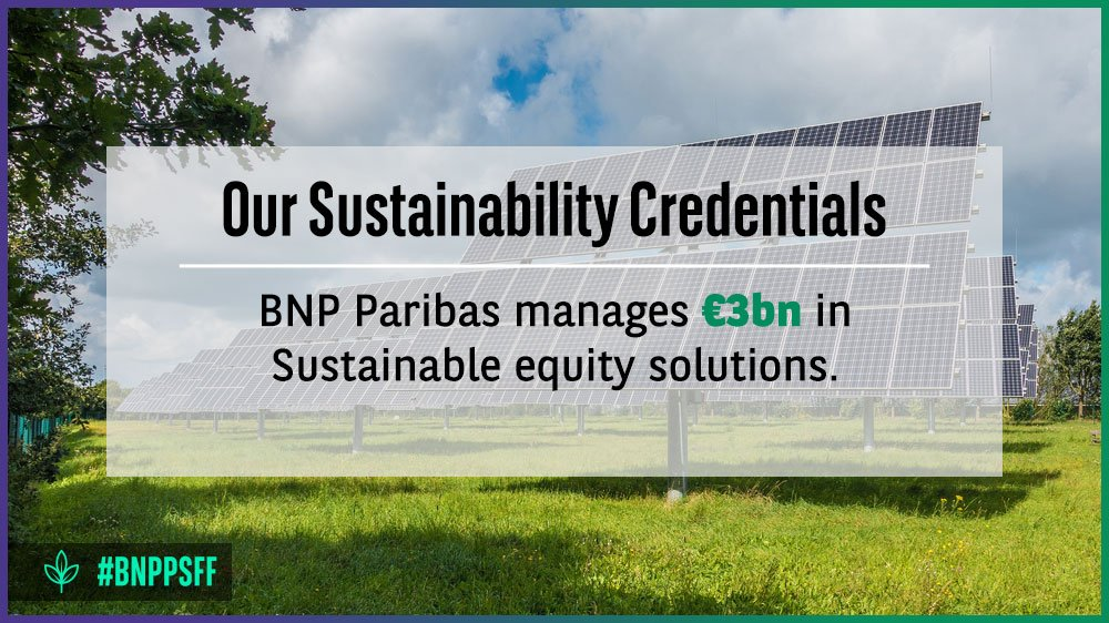 The financial sector has a crucial role in enabling the transition to a more #sustainable economy. Three days left until #BNPPSFF  #SG<br>http://pic.twitter.com/qcDl9UGiem