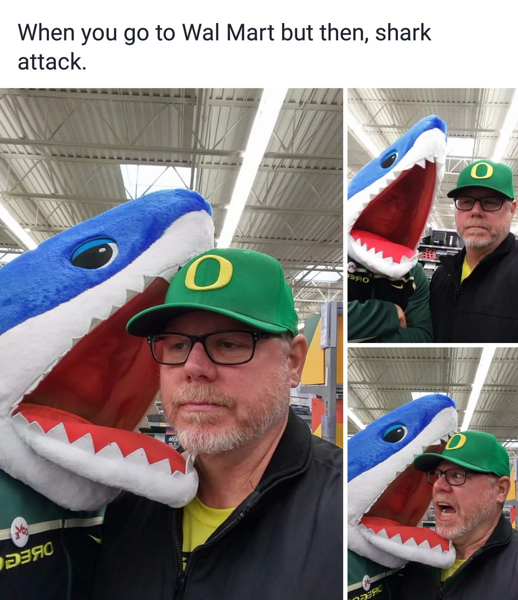 When you go to #WALMART but then, shark attack. <br>http://pic.twitter.com/6VBj8VKibM