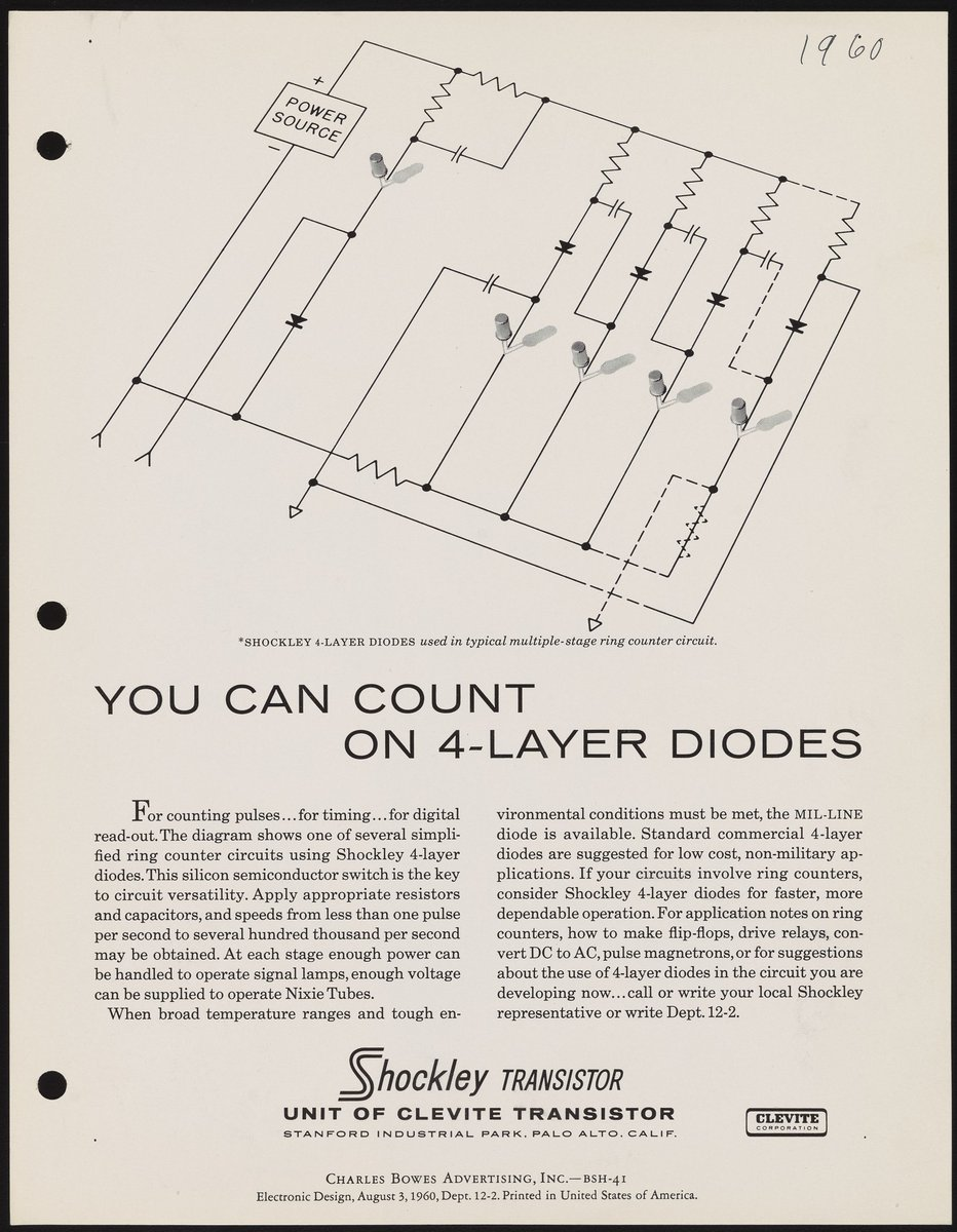Science History Institute On Twitter You Can Count 4 Layer Shockley Diode Diodes Really Beckmanlegacy