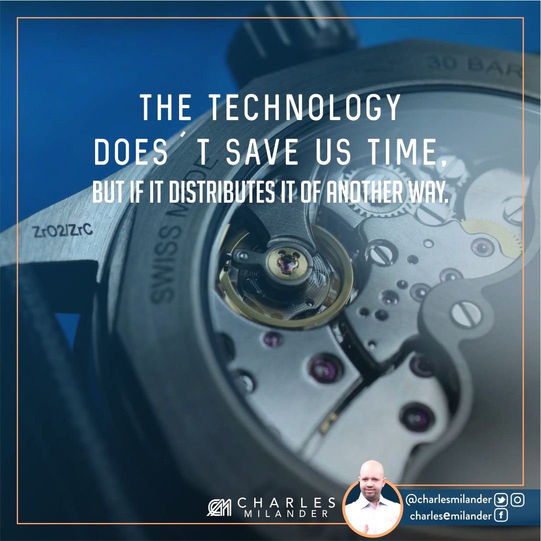 The technology does´t save us time, but if it distributes it of another way. #success #instaquote #money #newyork #nyc #work #working<br>http://pic.twitter.com/1VIKH5EeLd