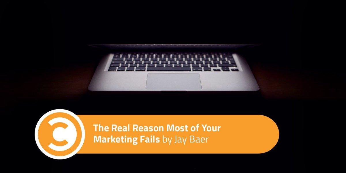 The Real Reason Most of Your Marketing Fails  https:// buff.ly/2ylhXBM  &nbsp;   by @jaybaer #contentmarketing #bloggingtips #SmallBiz<br>http://pic.twitter.com/nSyA58DnY0
