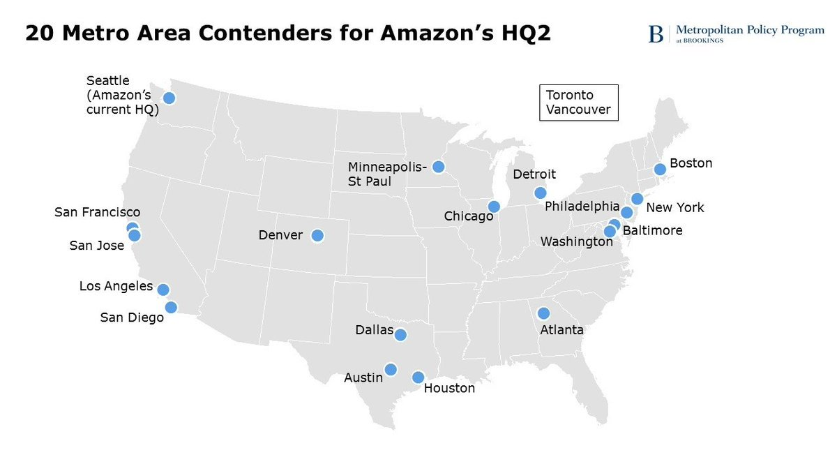 Take a look at some of the most likely contenders for @Amazon's new headquarters: https://t.co/eZArAJNLTl