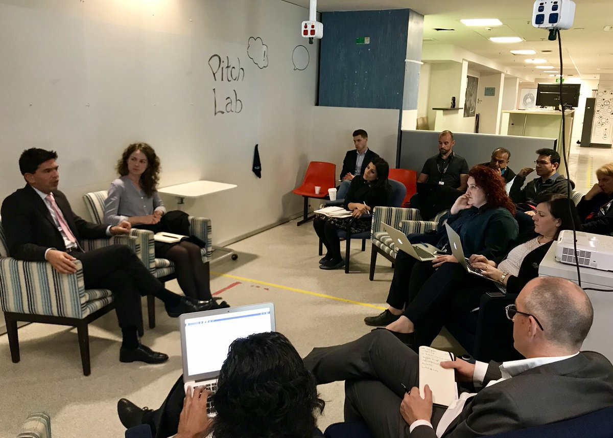 Dr Sam Bakri &amp; Amy Lambert from @tradegovuk discuss #raising #capital and #scaling in the #UK with the #melbournehealthaccelerator cohort<br>http://pic.twitter.com/RMASmG4uMr