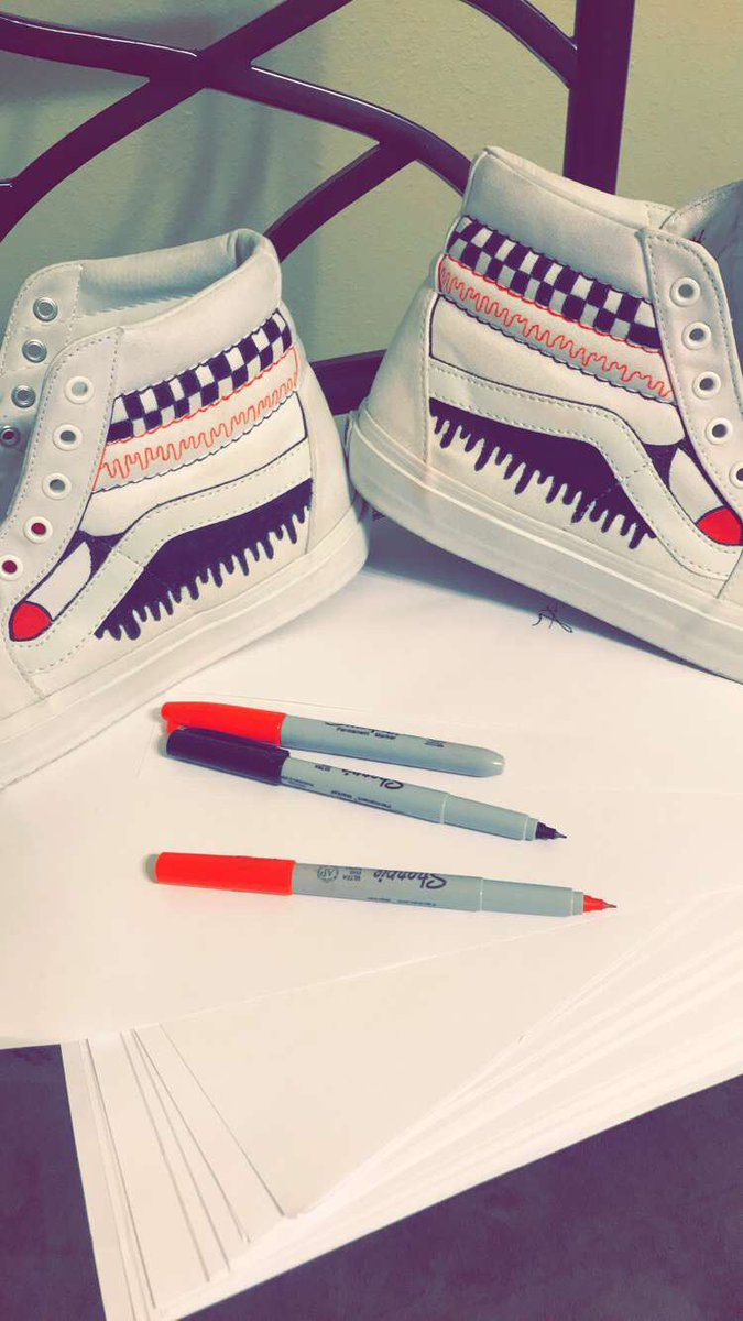 Working on a Vans Project  Y'all HMU if you need a custom tat or shoe. #design #sharpie<br>http://pic.twitter.com/HhkZhgxmsl