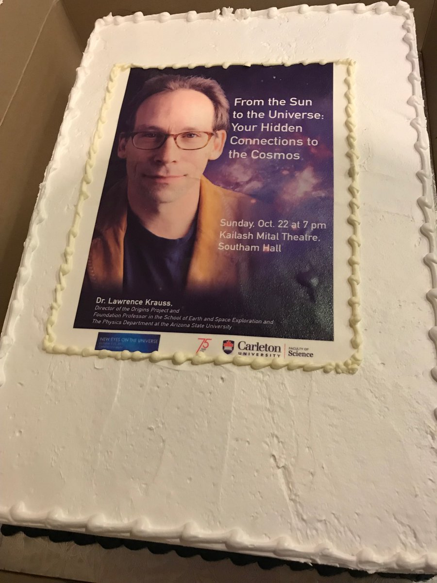 Thank you carleton for nice cake after my lecture. & thanks to all who came to overfill the auditorium. I was touched by your kind ovation.