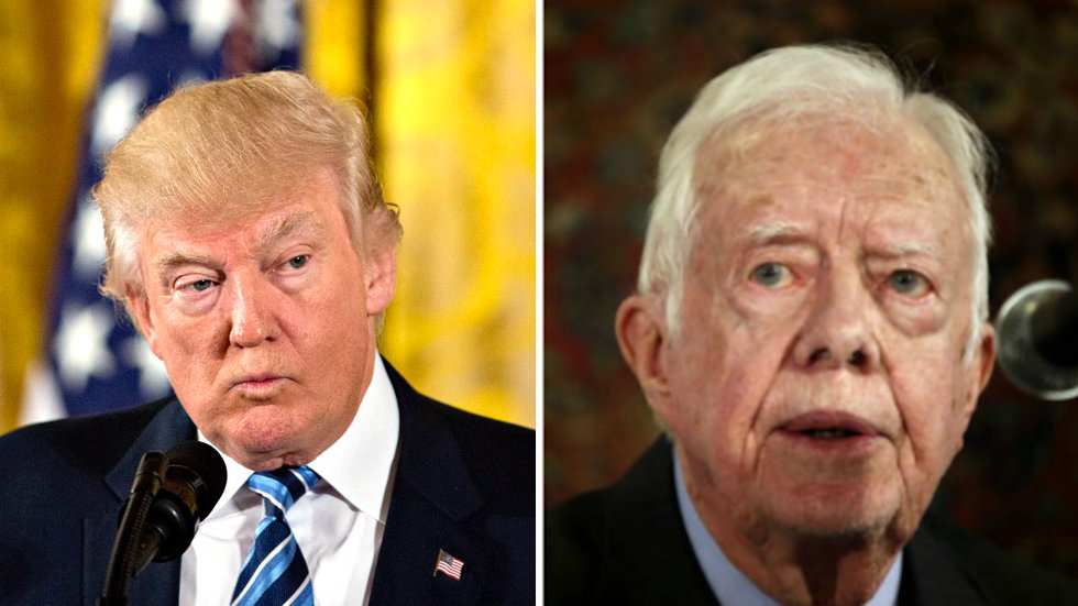 Jimmy Carter: The media has been harder on Trump than any other president https://t.co/MYXD8ptePP