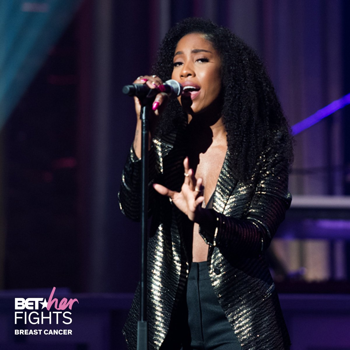 🎶Oh, before I do... I need to know before I go there with you...🎶  @sevyn thank you for blessing us all with these vocal runs on #BETherFights: Breast Cancer. 🙌🏾