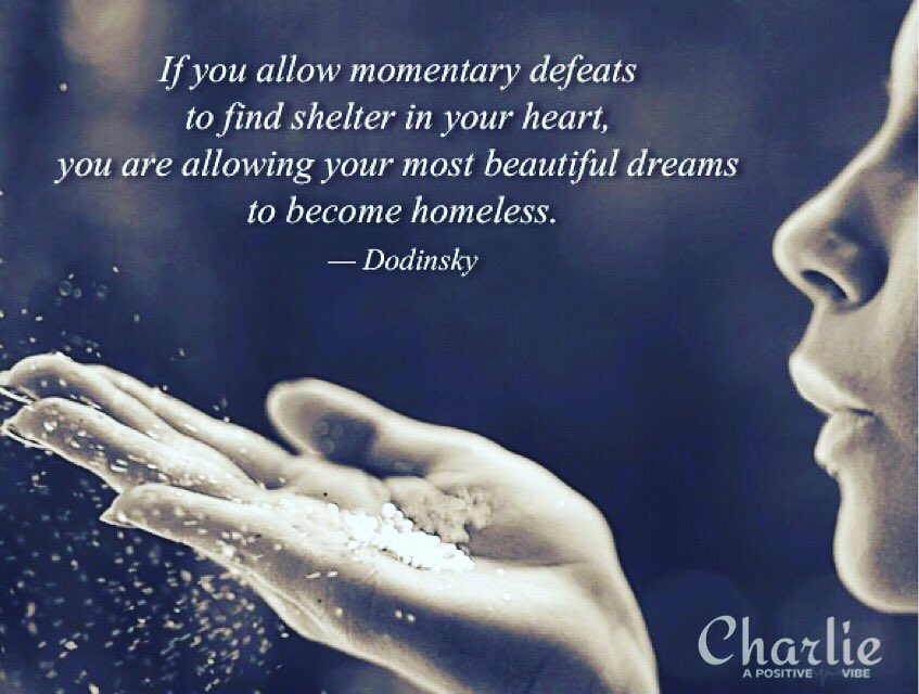 [Do not allow] your most BEAUTIFUL DREAMS to become homeless. ~Dodinsky #positive #love #inspire #dream #beauty #ThinkBIGSundaywithMarsha<br>http://pic.twitter.com/vM8CMMZcy0