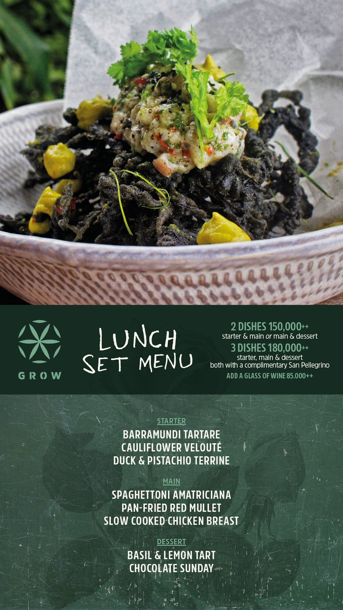 This week Set Lunch Menu @growbali #growbali #chefryanclift #chefdanieletaddeo #growuprooftopbar #sustainable #gastronomy #bistronomie<br>http://pic.twitter.com/uYpjALulxI