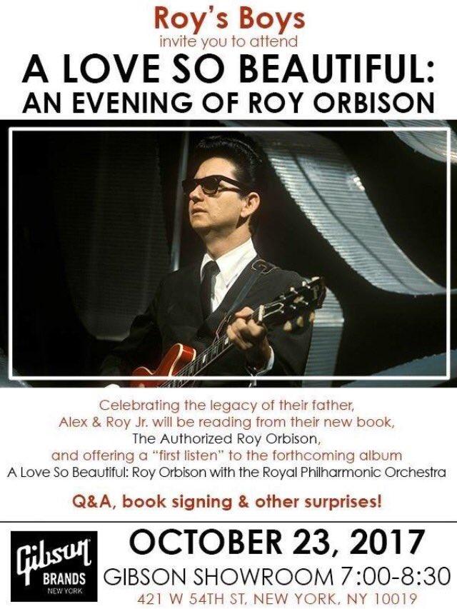 #NEWYORK !   #AuthorizedRoyOrbison #bookevent tomorrow at #Gibson Showroom 7 oclock!  RSVP to webmaster@orbison.com  #royorbison<br>http://pic.twitter.com/HRB0CS9nkS