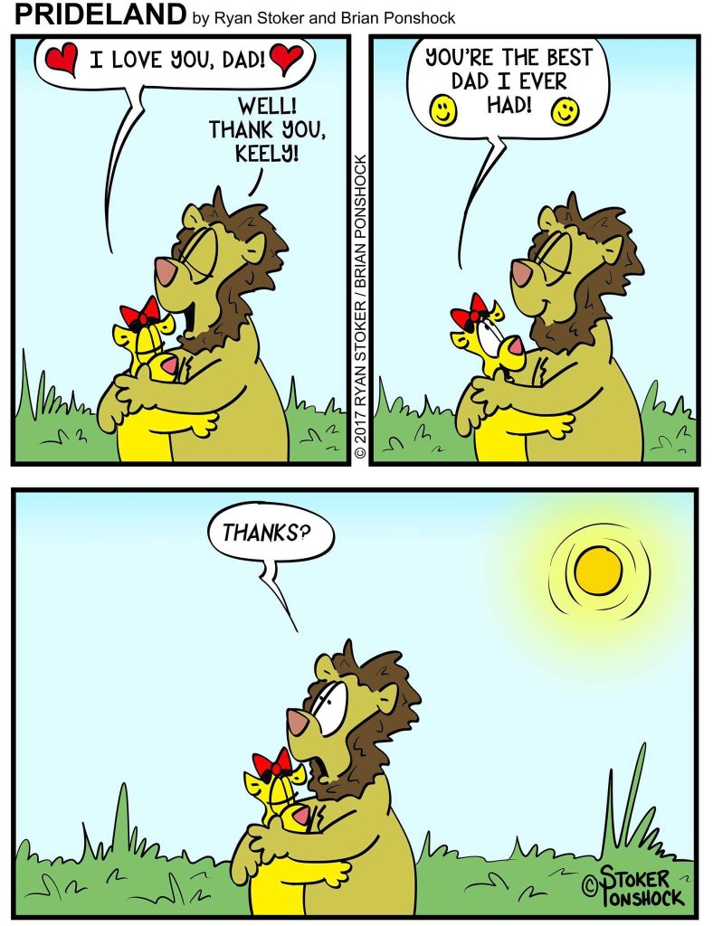 I #love you #dad! #Keely #Rodger #dads #parents #kids #lion #lions #hug #hugs #webcomic #cartoon #comic #funny #funnies #daughter <br>http://pic.twitter.com/EDHP0rr0vY