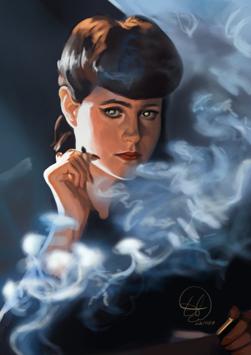 I am in love with Rachael Tyrell ... #bladerunner #bladerunnerfanart<br>http://pic.twitter.com/wh2jPXYq0z