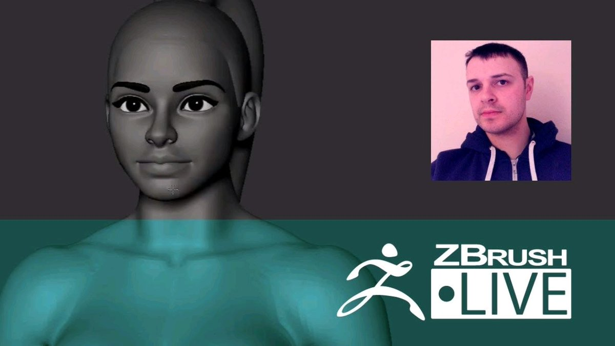 Watch &quot;Danny Mac - Stylized Female Characters - Episode 17&quot; on YouTube  https:// buff.ly/2yEP9UE  &nbsp;   #zbrush <br>http://pic.twitter.com/YS8rZagU1q