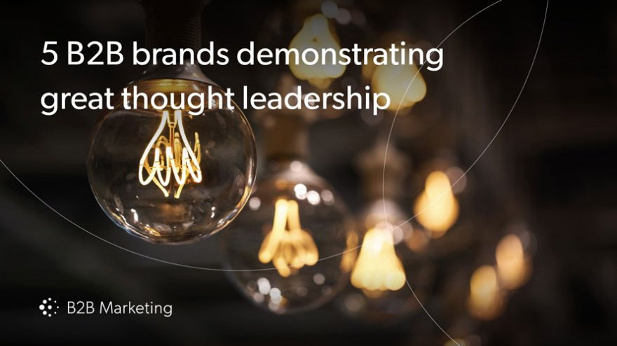 5 winning examples of B2B brands absolutely smashing thought leadership content https://t.co/3RsS9UxcDe https://t.co/97tCk2nwJB