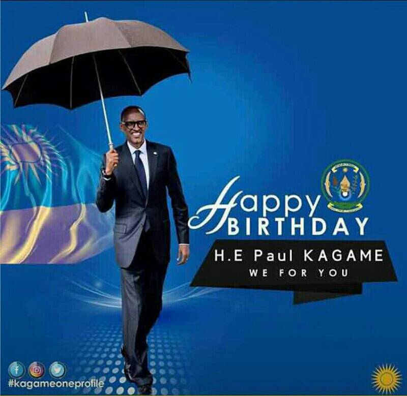 #HBDKAGAME  We thank God for 60yrs ago,he blessed #Rwanda with you,our Role model,our pride.GBU our #President #Kagame<br>http://pic.twitter.com/fSiE36BVhx