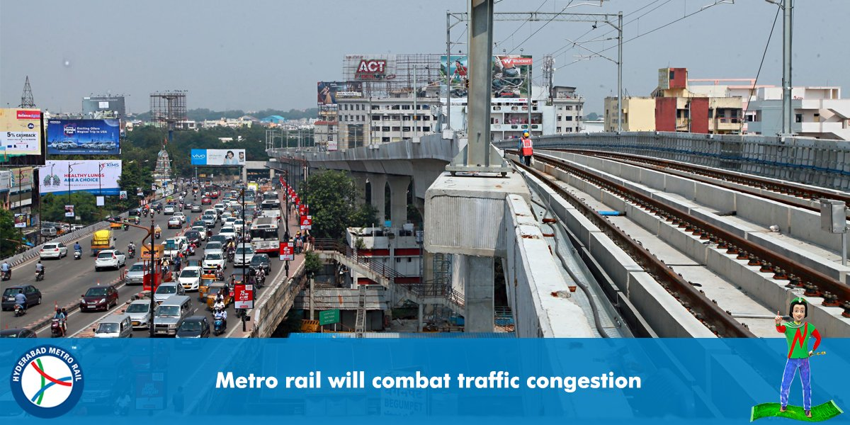 Avoid traffic congestion &amp; travel faster with #HydMetroRail.      #Hyderabad #India #MondayMotivation #IT #tech #video #gif #safety #PPP<br>http://pic.twitter.com/Icngm8t4qj