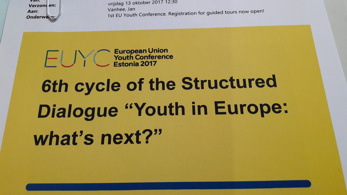 On my way to youthconf.EU #Tallinn Building connections &amp; shaping future youth field @Youth_Forum @EuropeanYouthEU @euYOUTHconf @eucoeyouth <br>http://pic.twitter.com/HYA9OlavTb