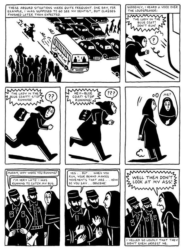 Womensart On Twitter Persepolis Graphic Autobiography By Marjane Satrapi On Her Childhood Early Adult In Iran During After The Islamic Revolution Womensart Https T Co Jufnjr4wq1