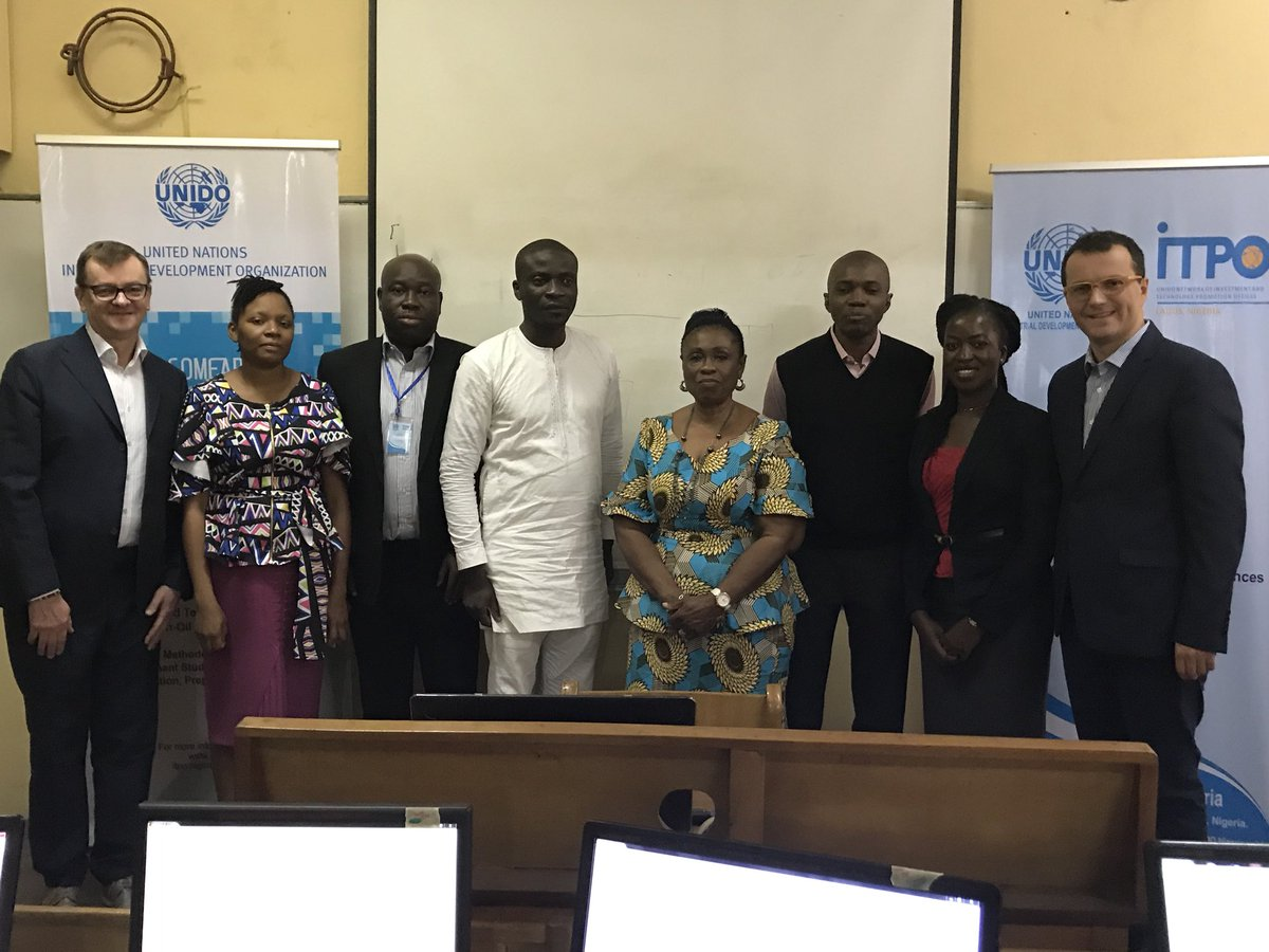 Good morning from #Lagos &amp; #Abuja. Meet @Unido @ITPO_Nigeria staff &amp; experts  working on #impact investment programs for #IDDA3 #SDG9 #ISID<br>http://pic.twitter.com/7EKValC4pz