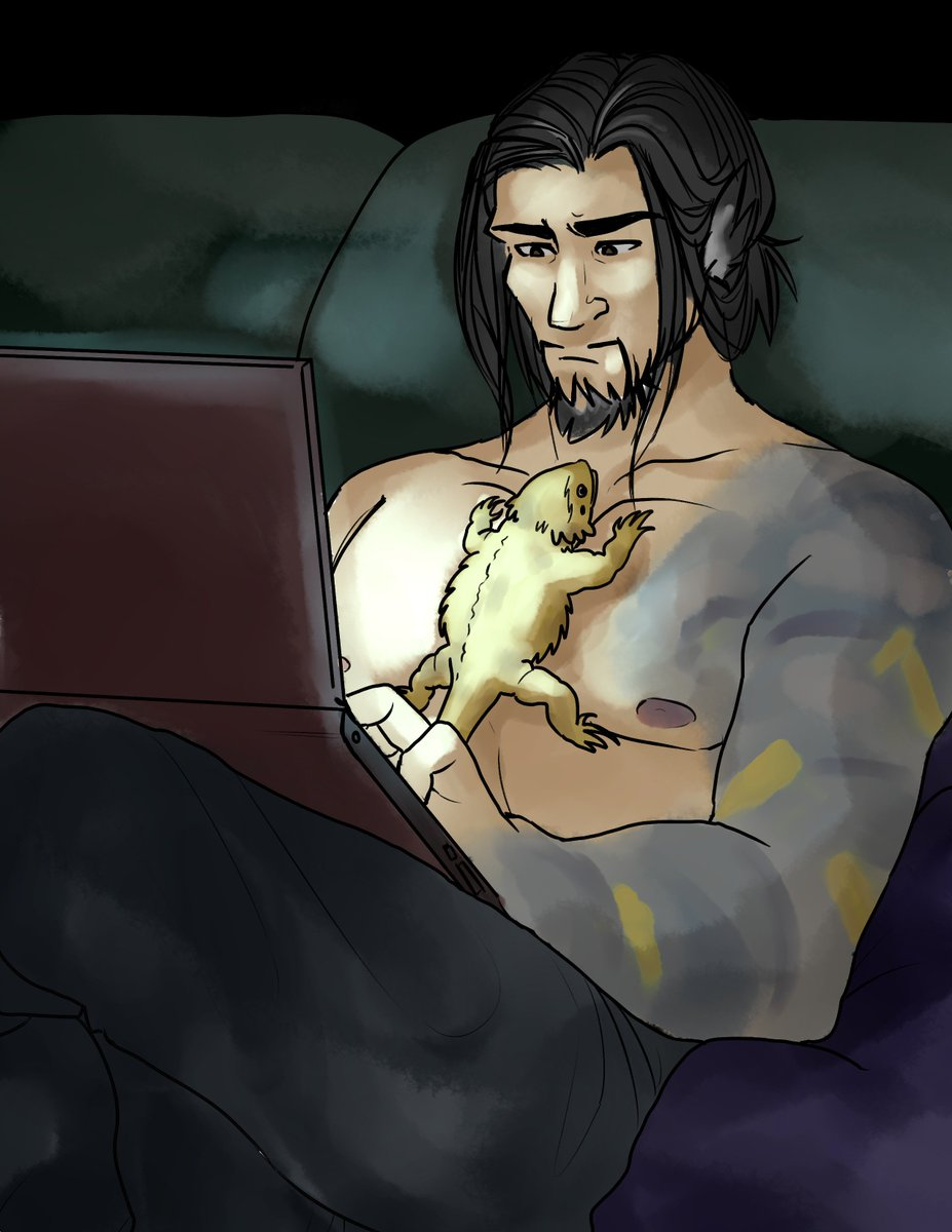 the dragon becomes warmed by my tiddies  everyone&#39;s favorite dragon dad from my rp with @CaptainxCorgi   #hanzo #overwatch <br>http://pic.twitter.com/RjiVFnS3fz