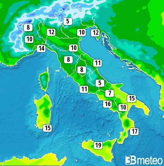 Brrr...giorno in diverse zone d'Italia #buongiorno #lunedì #meteoironi...