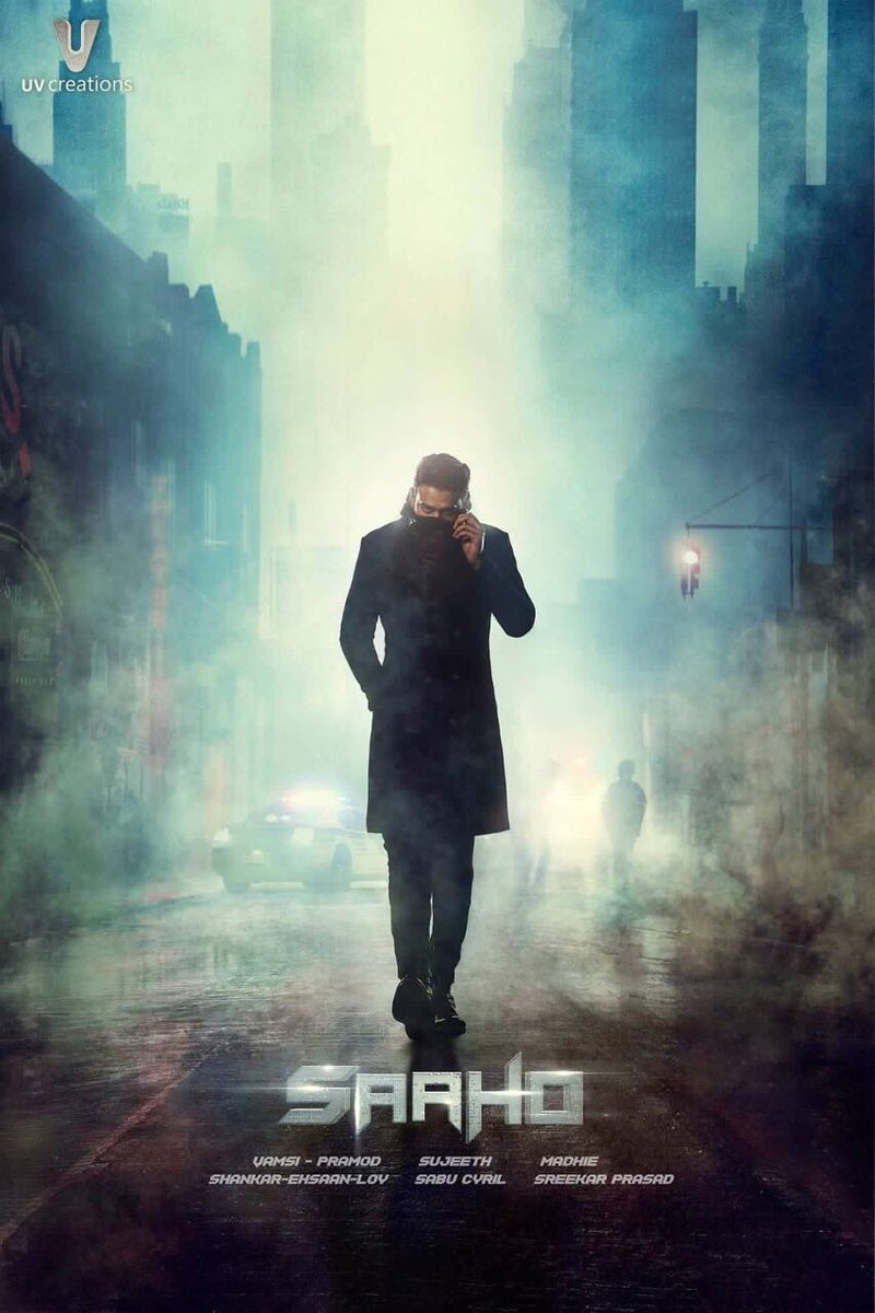 The team of #Saaho just unveiled the first poster on #Prabhas' birthday and we're intrigued already! You like? #HappyBirthdayPrabhas 🎈