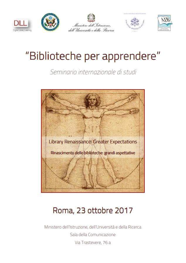 Ready to follow #libraryrenaissance? #today #23ottobre #23Oct at #MIUR in #Rome #libraries and #learning<br>http://pic.twitter.com/Ik6C84Qcvb