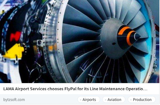 LAMA Airport Services chooses @iFlyPal for its Line #maintenance Operations #avgeek #mro  #aircraft #bytzsoft #news  https:// goo.gl/t2roHc  &nbsp;  <br>http://pic.twitter.com/GI36u8XUrM