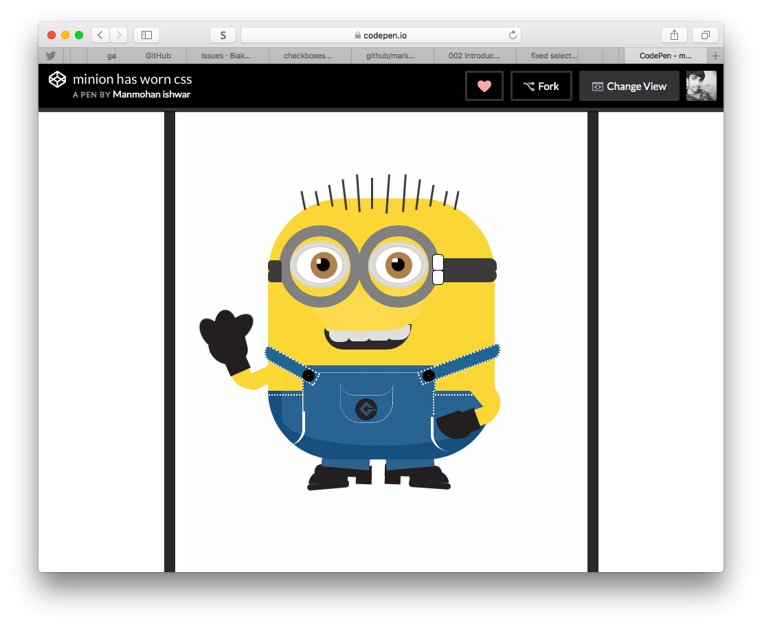 Fiddling with css images.   https:// codepen.io/immanmohan82/f ull/YVXdPw/ &nbsp; …    @CodePen @freeCodeCamp #dailycssimages #100daysofcode #css <br>http://pic.twitter.com/5ZKGCi0auv