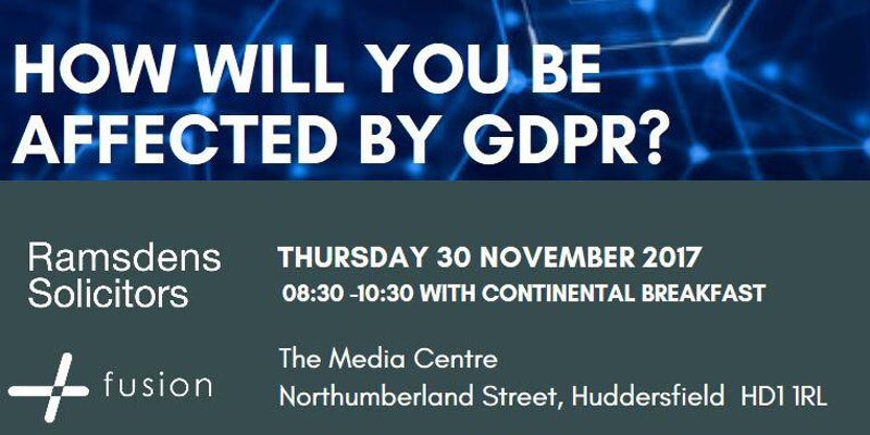The #GDPR deadline is fast approaching. How ready are you? Join us on 30/11 @TheMediaCentre with @RamsdensLLP   https://www. eventbrite.co.uk/e/how-will-you -be-affected-by-gdpr-tickets-38832908274 &nbsp; … <br>http://pic.twitter.com/nmRKEos49G