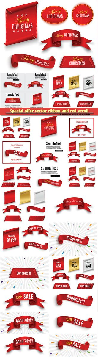 Special offer vector ribbon and red scroll, banner sale tag  http:// gfxonly.net/stock-vector/2 1184-special-offer-vector-ribbon-and-red-scroll-banner-sale-tag.html &nbsp; …   #preview #offer #ribbon <br>http://pic.twitter.com/l7QWOxiIvQ