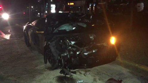 Así quedó el auto deportivo de Alan Pulido; indican que fue pérdida to...