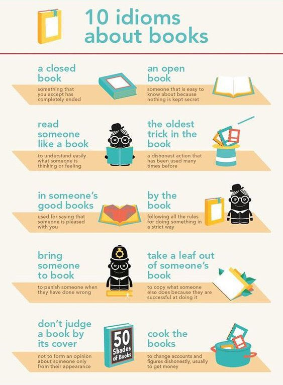 Good morning! Wake up! Have you ever used these 10 idioms about books? #EnglishIsFun #Idioms  <br>http://pic.twitter.com/oGfscuXwdR