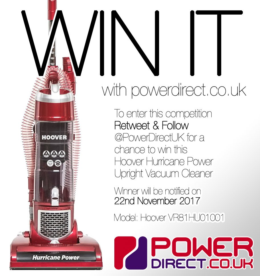 #MondayMotivation! Enter our #Free #Competition #Giveaway for a Chance to #Win a Hoover Upright Vacuum Cleaner. #RT &amp; #Follow @PowerDirectUK<br>http://pic.twitter.com/mb2FKvJZrC