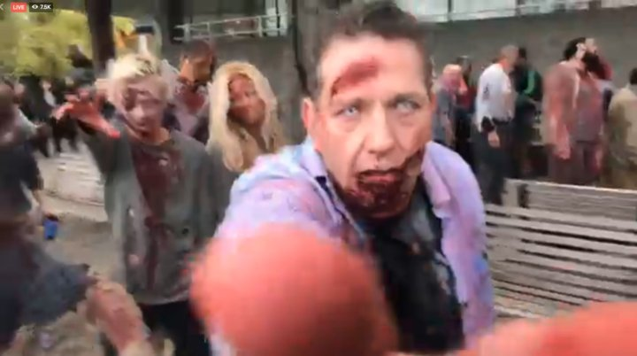 LIVE: Zombies invade London #TheWalkingDeadUk https://t.co/JXnHp19DYo...